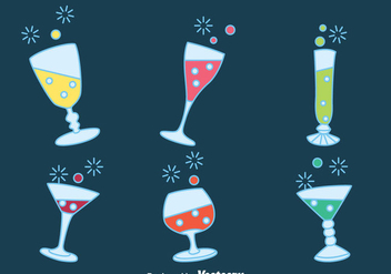 Fizz Drink Party Vectors - бесплатный vector #433721