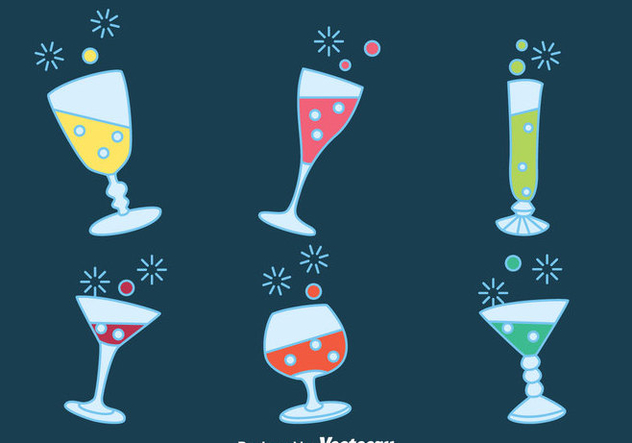 Fizz Drink Party Vectors - vector gratuit #433721