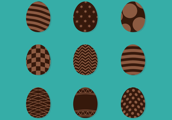 Decorated Chocolate Eggs - vector gratuit #433801