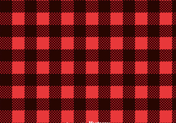 Red Flannel Print Vector - vector gratuit #433831