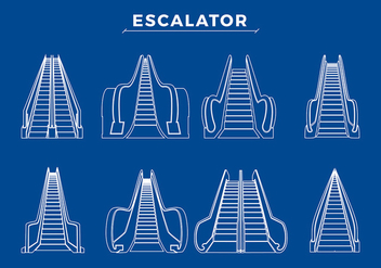 Various Escalator Free Vector - vector #433841 gratis