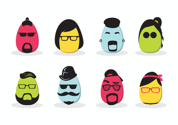 Hipster Easter Vector - Free vector #433881