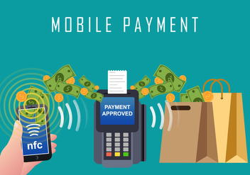 Mobile Payment With Nfc Technology - vector gratuit #433901