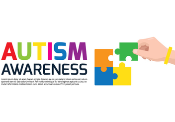 Autism Awareness Poster - vector gratuit #433921