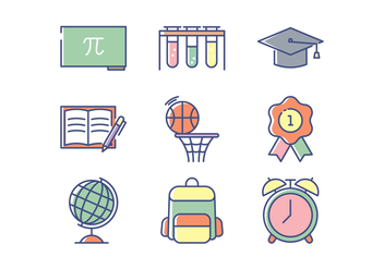 Education Icon Set - vector #433961 gratis