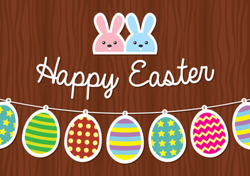 Easter Bunny and Egg Background - бесплатный vector #433971