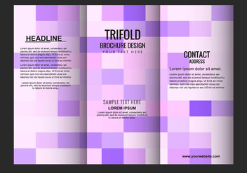 Free Vector Tri Fold Brochure - Free vector #434051