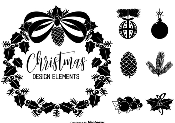 Christmas Vector Design Elements - vector gratuit #434121