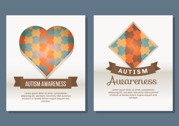 Autism Poster Template - Free vector #434131