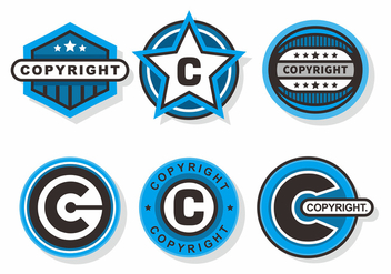 Copyright Stamps Vector Set - Free vector #434211
