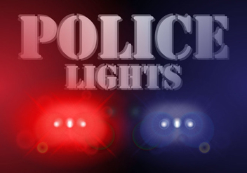 Police Lights Background Vector - Kostenloses vector #434261