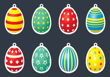 Egg Gift Tag - Free vector #434291