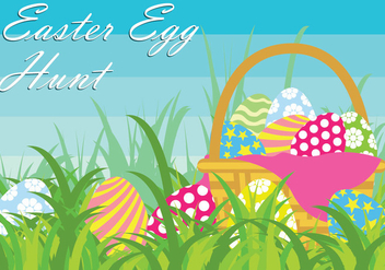 Easter Egg Hunt Vector Illustration - Kostenloses vector #434301
