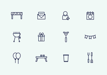 Outline Party Icons - vector gratuit #434571