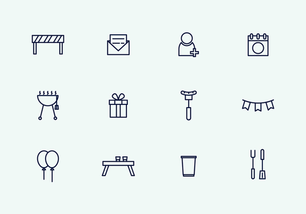 Outline Party Icons - Free vector #434571