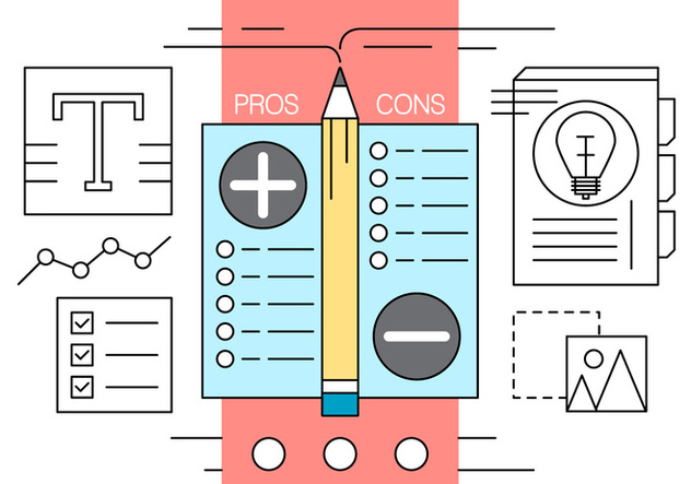 Free Pros and Cons Vector Illustration - Free vector #434701