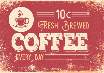 Vintage Retro Style Coffee Illustration - Free vector #434741