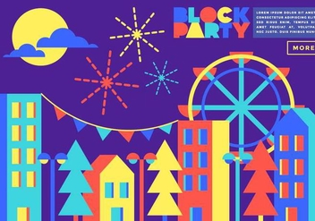 Block Party Illustration Vector - Free vector #434761