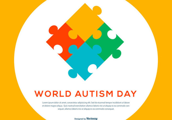 Autism Day Illustration - Free vector #434771