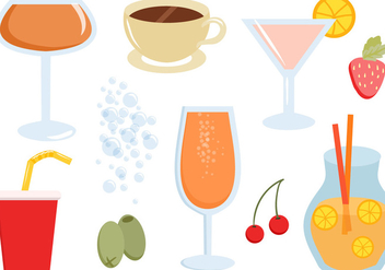 Free Drinks Vectors - бесплатный vector #434791