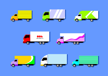 Flat Moving Van Free Vector - vector gratuit #434841