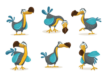 Dodo Bird Illustration Cartoon Style - Free vector #434851