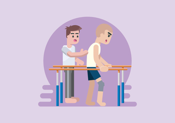 Physiotherapist Vector Illustrator - vector #434861 gratis