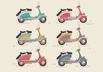 Lambretta Colorful Vector - Free vector #434981