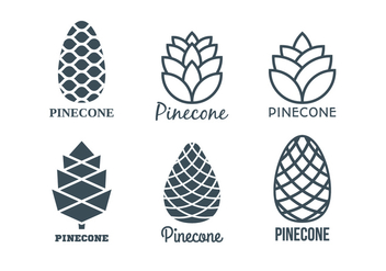 Flat Pine Cones Logo Template Collection - бесплатный vector #434991