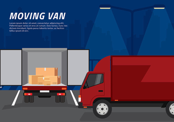 Moving Van Loading Free Vector - vector gratuit #435011