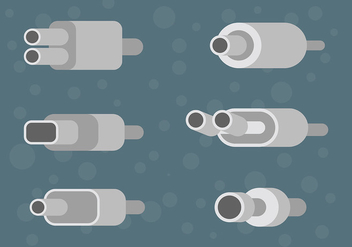 Free Muffler Icons Vector - Free vector #435121