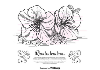 Rhododendron Vector Background - бесплатный vector #435141