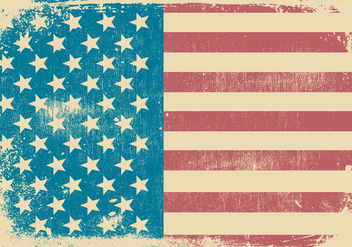 American Grunge Style Patriotic Background - vector gratuit #435201