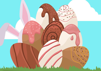 Chocolate Easter Egg - Free vector #435231