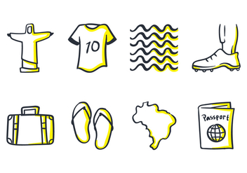 Brazil Doodle Icon - Free vector #435241