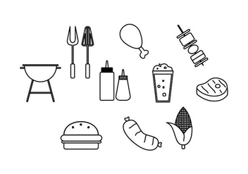 Free Barbecue Line Icon Vector - vector gratuit #435261