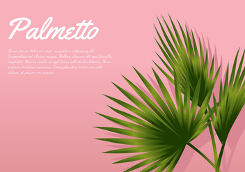 Palmetto Pink Background Free Vector - бесплатный vector #435271