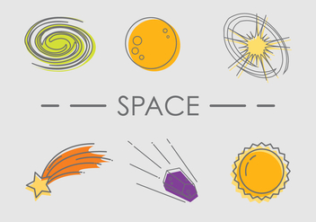 Space Flat Vector - Free vector #435291