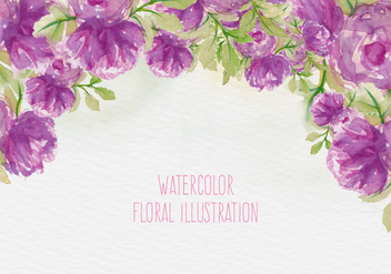 Free Vector Watercolor Floral Illustration - Free vector #435361