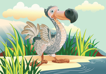 Dodo Bird Cartoon Character Vector - бесплатный vector #435371
