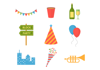 Free Block Party Vector Icons - vector #435421 gratis