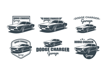 Dodge Charger Logo Free Vector - vector gratuit #435451