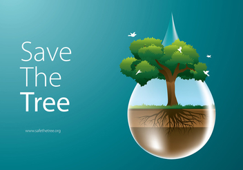 Save The Tree Free Vector - Kostenloses vector #435461