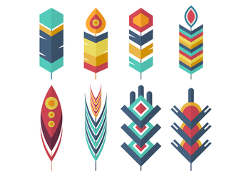Free Feather Vector Collection - бесплатный vector #435471