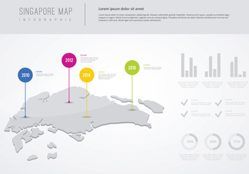 Free Info-Graphic Design Of Singapore Illustration - Free vector #435481
