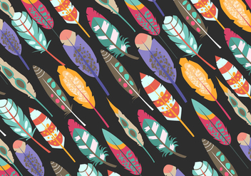 Pattern Of Boho Pluma - vector #435521 gratis