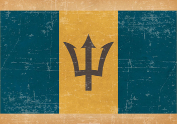 Grunge Style Flag of Barbados - vector gratuit #435561