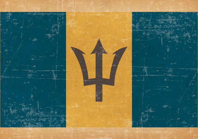 Grunge Style Flag of Barbados - vector #435561 gratis