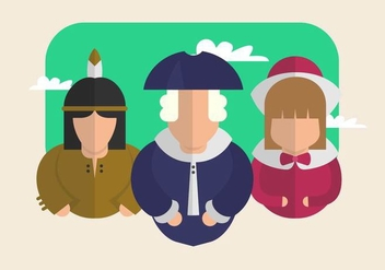 Colonial Illustration - vector gratuit #435571