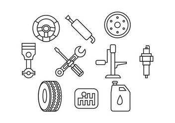Free Automotive Line Icon Vector - Free vector #435581